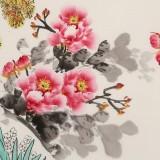 王伟宁 小六尺《花香醉人》 青年书画才俊 河南美协会员