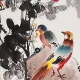 【已售】王宝钦 三尺《锦绣前程》当代花鸟牡丹画名家(询价)
