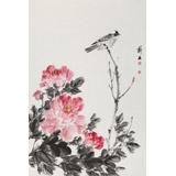 陈薪名《鸣春》 第六届全国花鸟画展金奖获得者