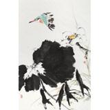 陈薪名《荷风清远》 第六届全国花鸟画展金奖获得者