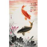 周升达 三尺《富贵久鱼》 中国画院国画组长(询价)