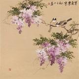 【已售】皇甫小喜 四尺斗方《紫气东来》 河南著名花鸟画家