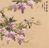皇甫小喜 四尺斗方《紫气东来》 河南著名花鸟画家