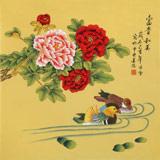 凌雪 四尺斗方《富贵和美》 北京美协会员