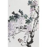 【已售】陈薪名《紫气东来》 第六届全国花鸟画展金奖获得者