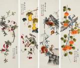 凌雪 四条屏《事事如意》 北京美协会员