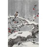 陈薪名《雪韵》 第六届全国花鸟画展金奖获得者