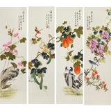 北京美协 凌雪四条屏《紫气东来》