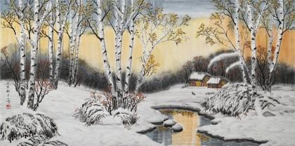 何一鸣 四尺《瑞雪丰年》 冰雪画派画家 师从于志学