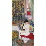 王永刚 三尺《仕女图》 78岁国家一级美术师