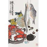 王永刚 《邀老友过重阳》 78岁国家一级美术师 太行画院院长