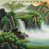 【已售】吴东 小六尺《宝地生金》 著名易经风水画家