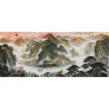 王友金 小八尺聚宝盆风水画《春晖图》