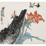 王永刚 三尺斗方《蝶恋花》 78岁国家一级美术师