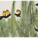 王永刚  三尺斗方《春风》 78岁国家一级美术师