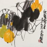 王永刚 斗方小品《秋蝉》 78岁国家一级美术师