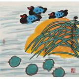 王永刚 三尺斗方《荷塘情趣》 78岁国家一级美术师