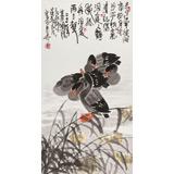 王永刚 三尺《芦花深处听江流》 78岁国家一级美术师