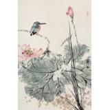 陈薪名《荷塘清香》 中美协会员 第六届全国花鸟画展金奖获得者