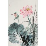 陈薪名《荷香》中美协会员 第六届全国花鸟画展金奖获得者