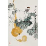 陈薪名《福禄长久》 第六届全国花鸟画展金奖获得者