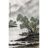 刘金河 四尺三开《春雨潇潇》 中美协会员 国家画院画家