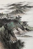 刘金河 四尺三开《江南春早》 中美协会员 国家画院画家