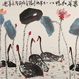 王永刚 四尺斗方《惠风和畅》 78岁国家一级美术师