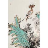 【已售】陈薪名《幽兰》中美协会员 第六届全国花鸟画展金奖获得者