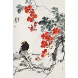 陈薪名《春花灿烂》中美协会员 第六届全国花鸟画展金奖获得者