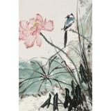 陈薪名《荷韵幽香》中美协会员 第六届全国花鸟画展金奖获得者