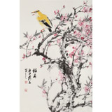 陈薪名《报春》 中美协会员 第六届全国花鸟画展金奖获得者