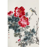 【已售】陈薪名《花开富贵》 中美协会员 第六届全国花鸟画展金奖获得者