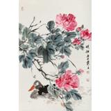 陈薪名《晓妆》中美协会员 第六届全国花鸟画展金奖获得者