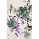 陈薪名《紫玉飘香》 中美协会员 第六届全国花鸟画展金奖获得者