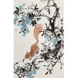 陈薪名《松林野趣》 中美协会员 第六届全国花鸟画展金奖获得者