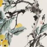 【已售】陈薪名《硕果累累》 第六届全国花鸟画展金奖获得者
