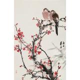 陈薪名《梅开五福》 中美协会员 第六届全国花鸟画展金奖获得者