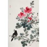 陈薪名《鸣春》中美协会员 第六届全国花鸟画展金奖获得者