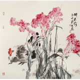 陈薪名《醉花阴》 中美协会员 第六届全国花鸟画展金奖获得者