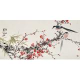 陈薪名《迎春》 中美协会员 第六届全国花鸟画展金奖获得者