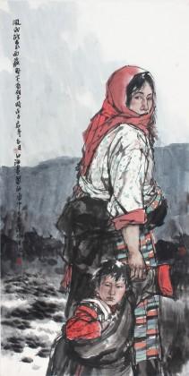 肖曰海 代表作精品《风雨欲来》 国家画院画家