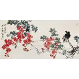 【已售】陈薪名《凌云志》 第六届全国花鸟画展金奖获得者