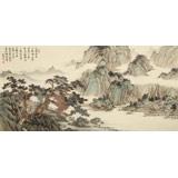 吴显刚 《雨过飞泉》 贵州七星关美协主席