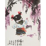 【已售】张乃成 《福娃》 中美协会员 原芜湖市美协主席