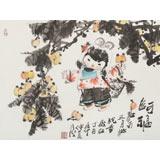 【已售】张乃成 《阿福》 中美协会员 原芜湖市美协主席