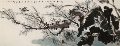 张咏梅  小六尺《清影摇春》 中美协会员 河南太康美协副主席