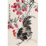 陈薪名《大吉大利》 中美协会员 第六届全国花鸟画展金奖获得者
