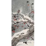 陈薪名 三尺精品《雪韵》中美协会员 第六届全国花鸟画展金奖获得者
