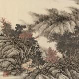 吴显刚六尺对开《秋色满空山》贵州七星关美协主席
